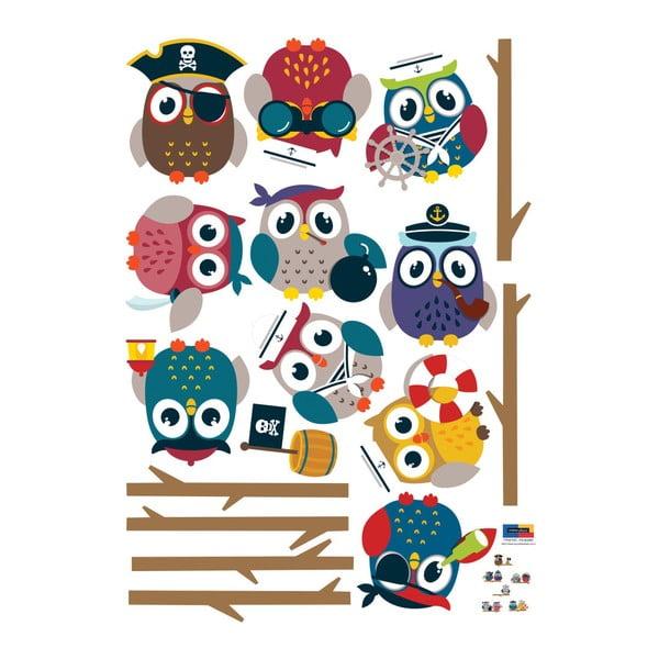 Zestaw naklejek Ambiance Owls