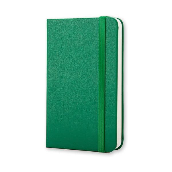 Zielony mininotes Moleskine, czyste strony