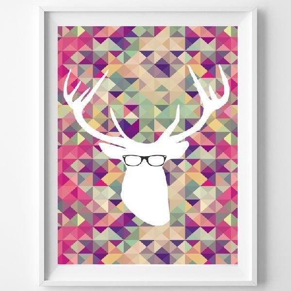 Plakat Smart Deer, A3