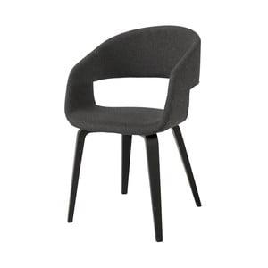 Grafitowe krzesło do jadalni Interstil Nova