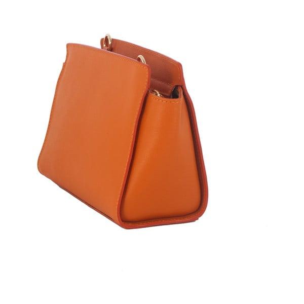 Pomarańczowa torebka skórzana Andrea Cardone Mattia