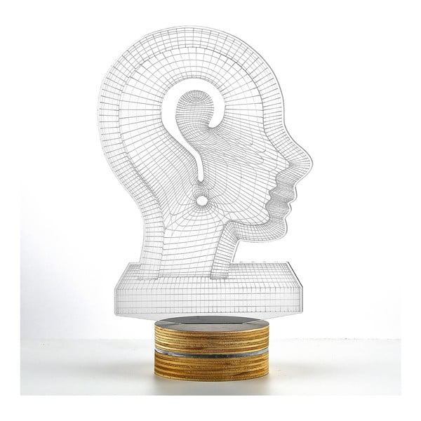 Lampa 3D stołowa Head