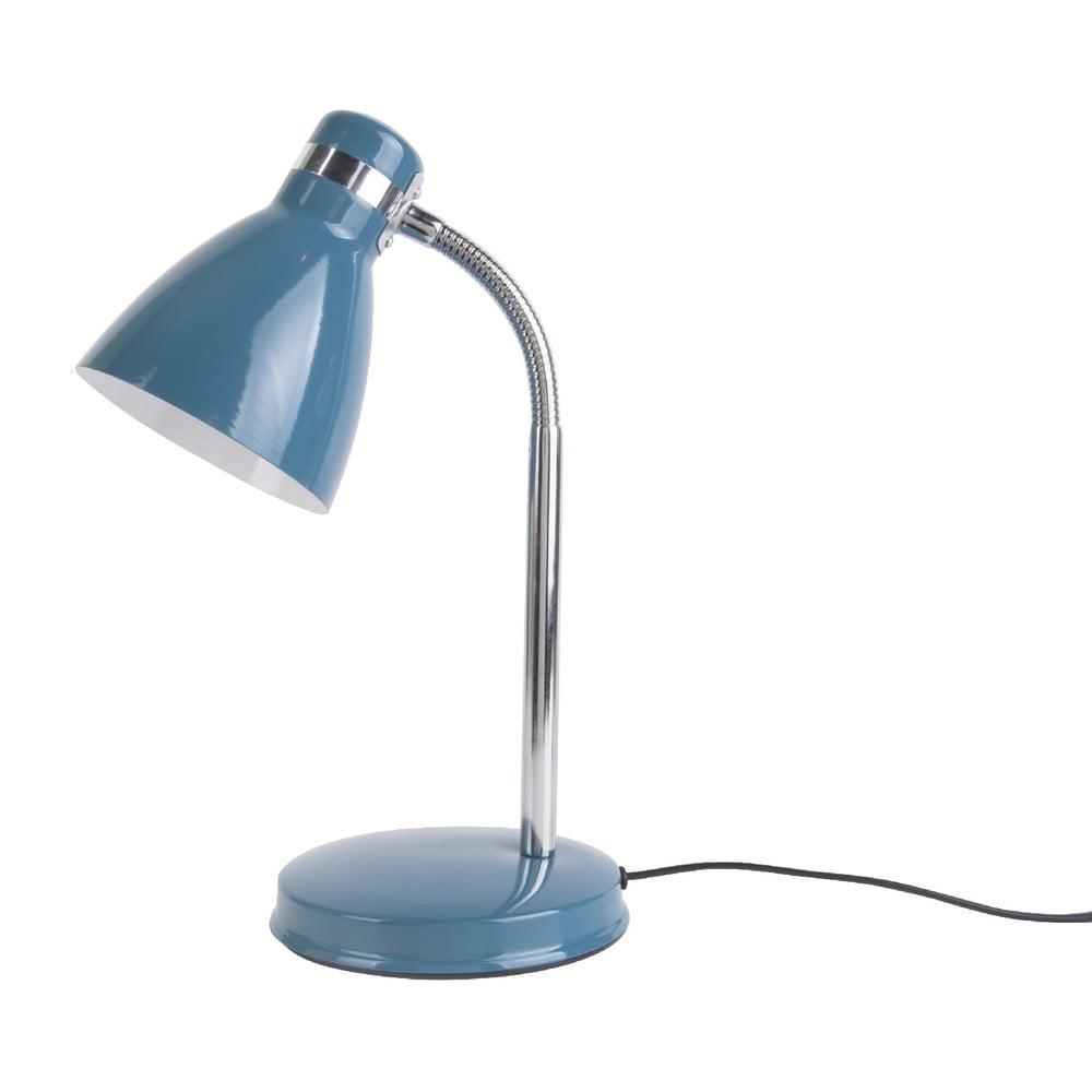 Niebieska lampa stołowa Leitmotiv Study Blue