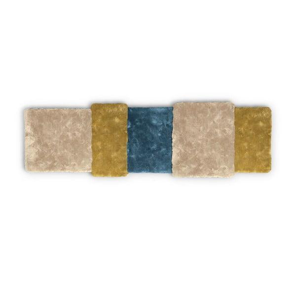 Dywan Over Stripe Emko, żółto-niebieski