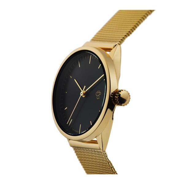 Zegarek w złotej barwie z czarnym cyferblatem CHPO Nando Mini