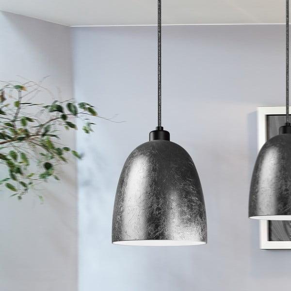 Czarno-miedziana lampa wisząca Sotto Luce Awa