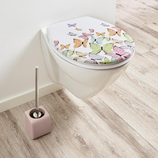 Różowa szczotka toaletowa KleinWolke Cubic
