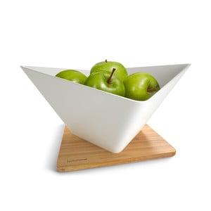 Miska na owoce z podstawką Draining Fruit Bowl, biała