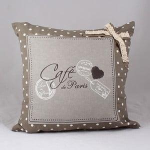 Poszewka na poduszkę Café de Paris 40x40 cm, jasna