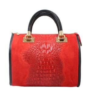Czerwona torebka skórzana Signora