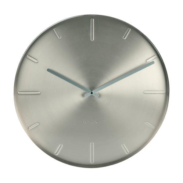 Srebrny zegar Present Time Belt