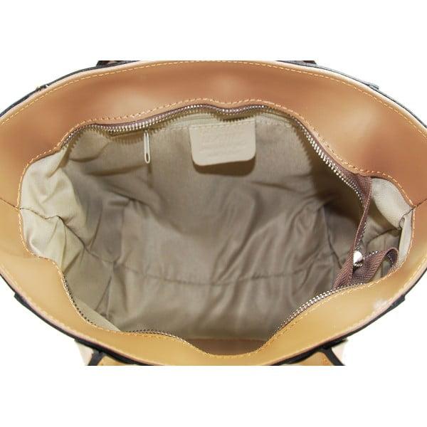 Skórzana torebka Filena Taupe
