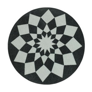 Dywan Deko - szare wzory, 100 cm