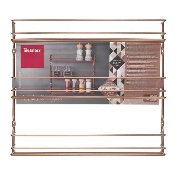 3-poziomowa półka wisząca na przyprawy w kolorze miedzi Metaltex