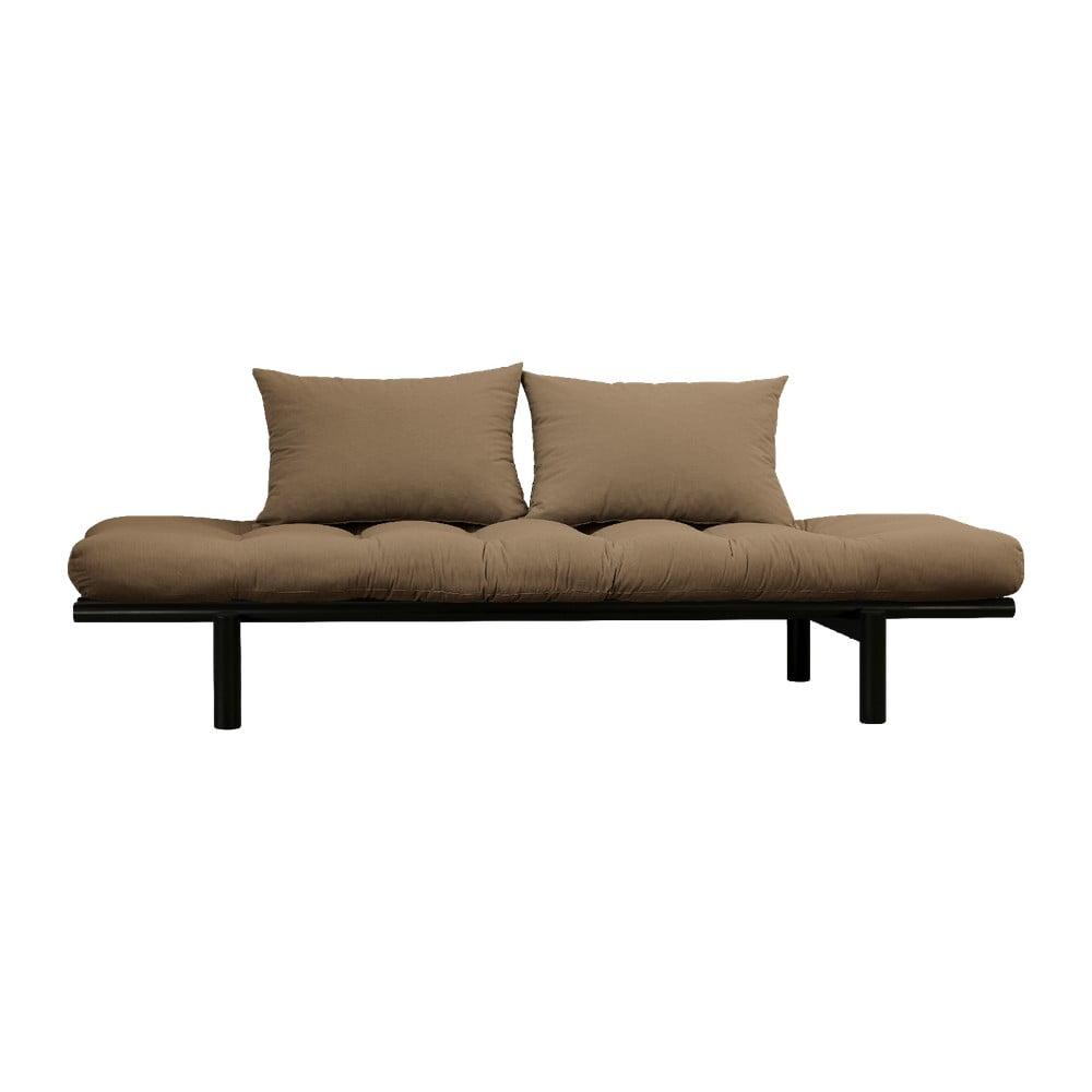 Sofa z brązowym pokryciem Karup Design Pace Black/Mocca