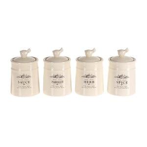 Komplet 4 pojemników do przypraw Spice Jar Porcelain