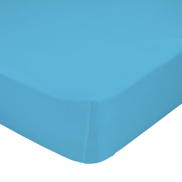 Elastyczne prześcieradło Mr. Fox Turquoise, 90x200 cm