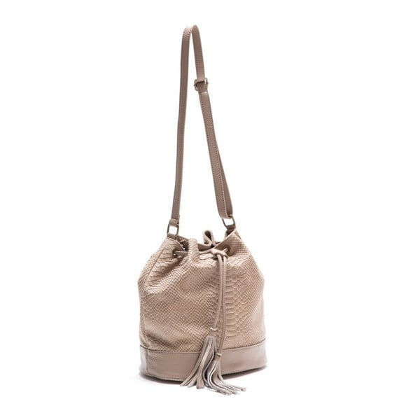Skórzana torebka Luisa Vannini 8027 Fango