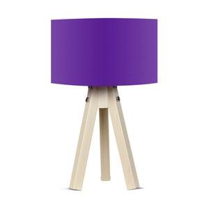 Lampa stołowa z fioletowym abażurem Kate Louise Naturel