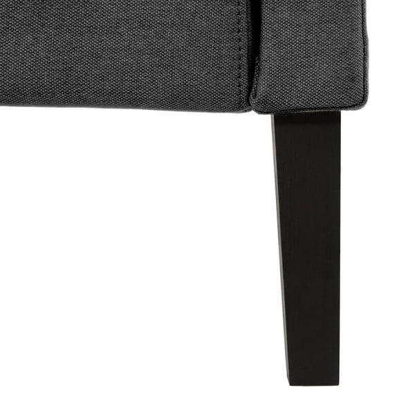 Ciemnoszare łóżko z czarnymi nóżkami Vivonita Windsor, 160x200 cm