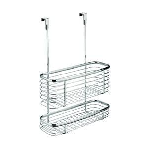 Metalowy koszyk na drzwi szafek kuchennych InterDesign Axis Double Basket