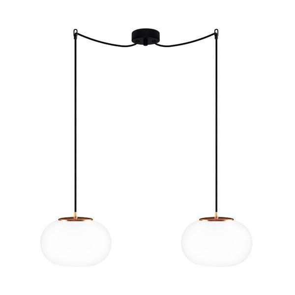 Czarno-miedziana podwójna lampa wisząca Sotto Luce DOSEI Elementary 2S