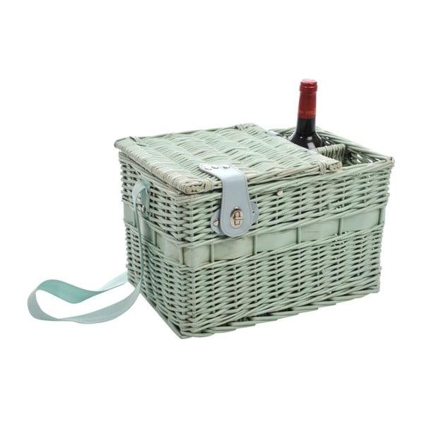 Kosz piknikowy Picnic Green, 37x24x24 cm