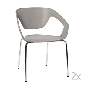 Zestaw 2 krzeseł D2 Space, szare