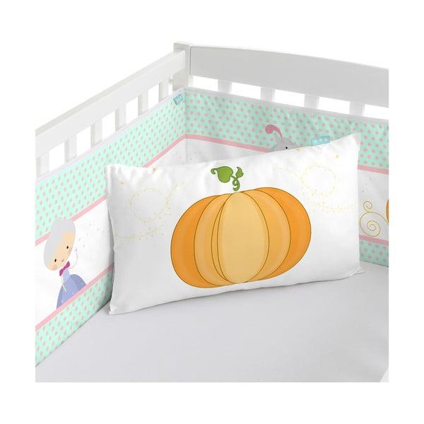 Bawełniany ochraniacz do łóżeczka Mr. Fox Pumpkin, 210x40 cm
