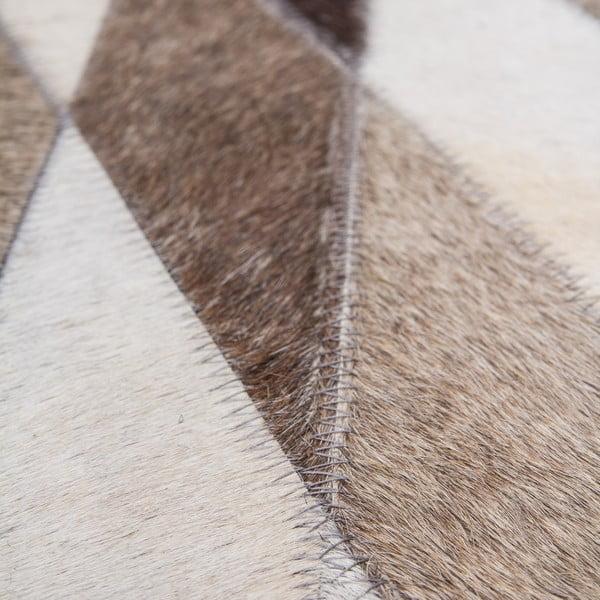 Dywan skórzany Eclipse 80x150 cm, brązowy