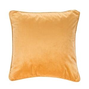 Ciemnożółta poduszka Tiseco Home Studio Velvety, 45x45 cm
