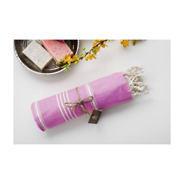 Ręcznik hamam Sabba Light Pink, 100x180 cm