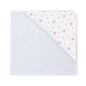Ręcznik kąpielowy z kapturkiem Pooch Asterisk Coral, 79x75cm