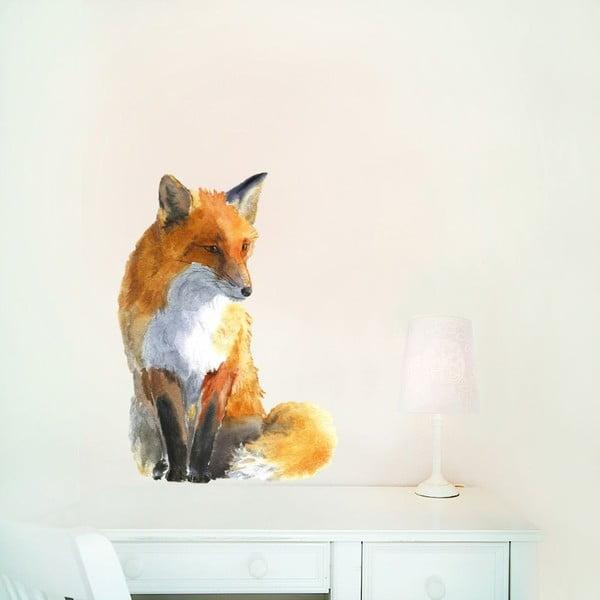 Naklejka wielokrotnego użytku Fox Small, 42x30 cm