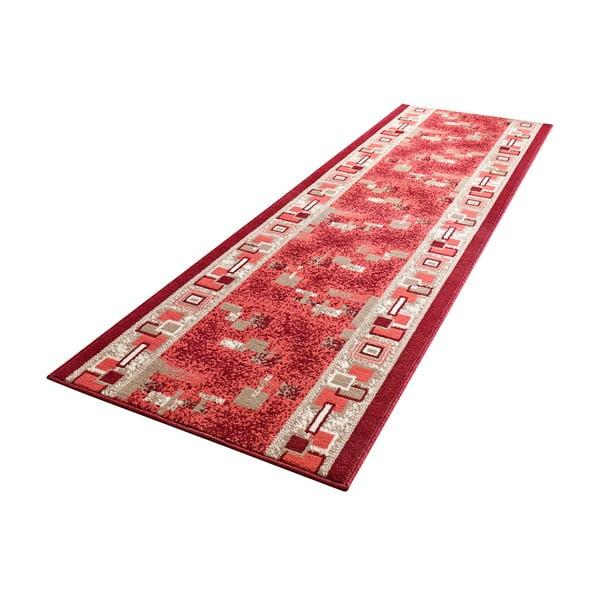 Dywan Basic Retro, 80x250 cm, czerwony