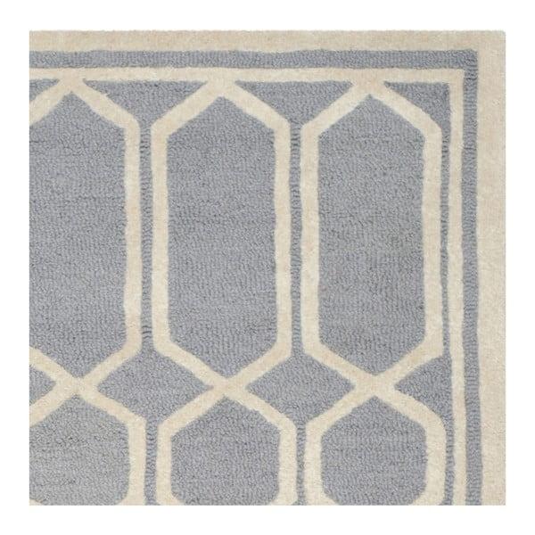 Szary dywan wełniany Safavieh Olivia, 182x274 cm