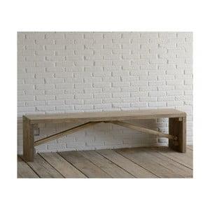 Ławka z drewna pozyskanego z recyklingu Old Wood, 45x180 cm