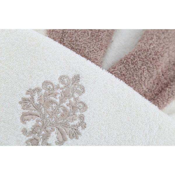 Zestaw szlafrok i 2 ręczniki Sobie Cream