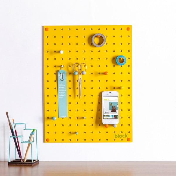 Wielofunkcyjna tablica Pegboard 30x40 cm, żółta