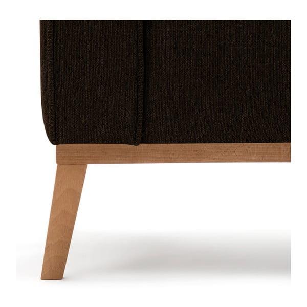 Ciemnobrązowa sofa 3-osobowa Vivonita Milton