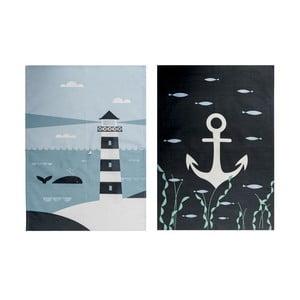 Zestaw 2 ścierek kuchennych Ahoy! Lighthouse
