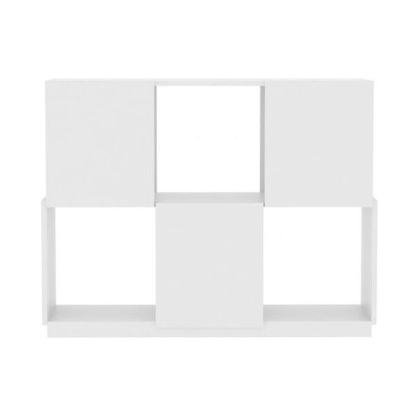 Biała biblioteczka matowa TemaHome Branch 2/3
