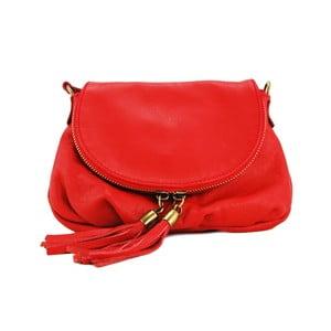 Skórzana torebka Clementis Rosso