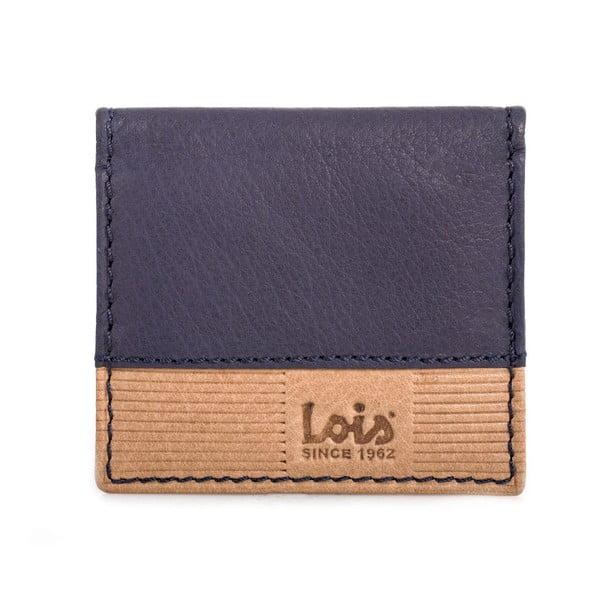 Skórzana portmonetka  Lois Blue, 8x7 cm