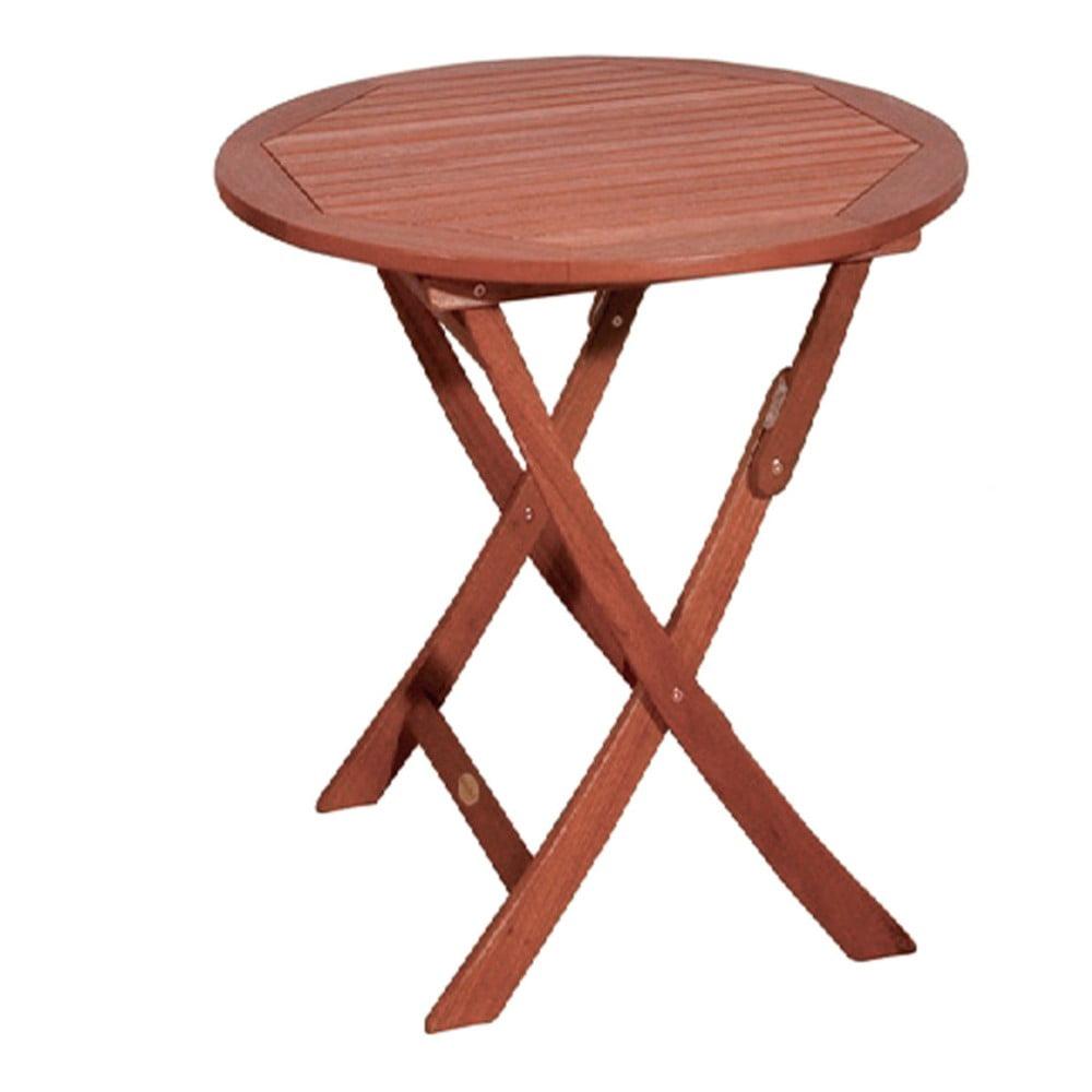 Ogrodowy stół rozkładany z drewna eukaliptusowego ADDU Stockholm, Ø70cm