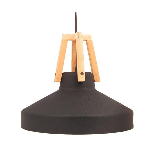 Czarna lampa wisząca Loft You Work, 44 cm