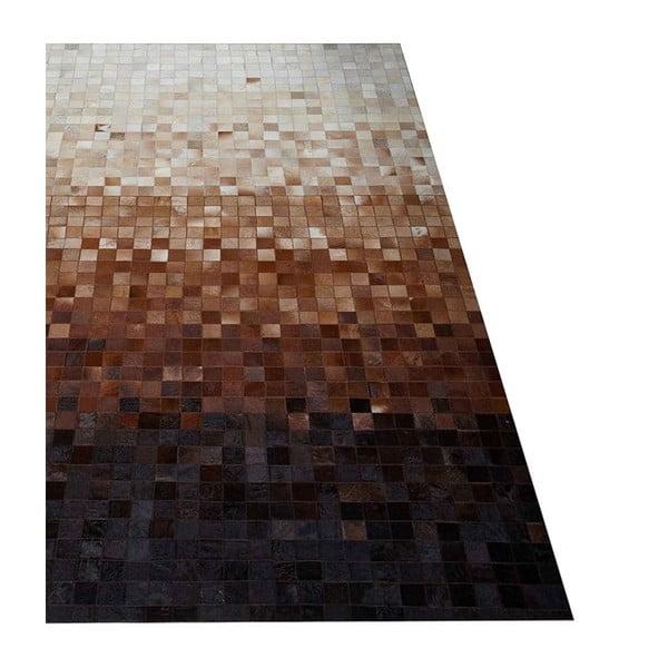 Dywan skórzany Sao Paulo Brown, 70x140 cm