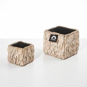 Zestaw 2 doniczek Natural Cube