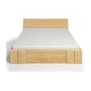 Łóżko 2-osobowe z drewna sosnowego z szufladą SKANDICA Vestre Maxi, 140x200 cm
