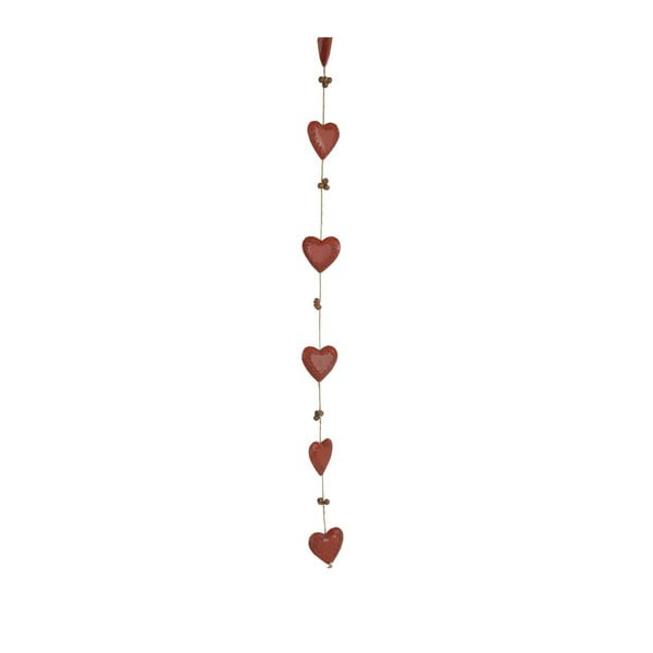 Girlanda Bells & Hearts Red